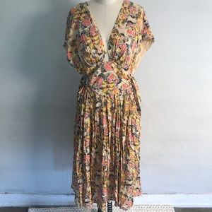 Free People Deep V-Neck Midi Dress